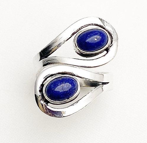 Lapis Lazuli Loop Ring