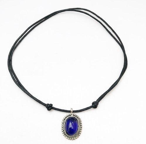 Cobalt Blue Pendant Necklace