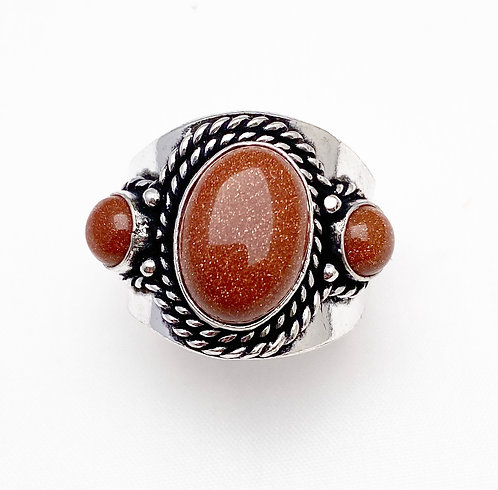 Goldstone Chattaan Ring