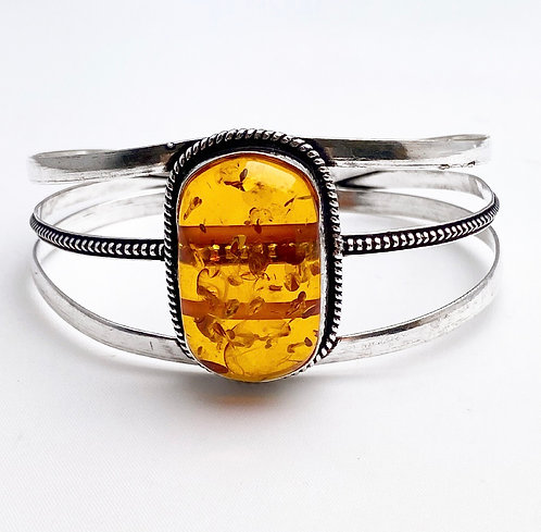 Amber Large Stone Cuff