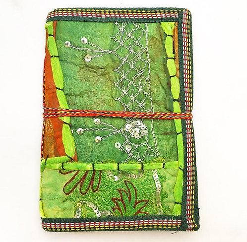 Medium Green Sari Journal
