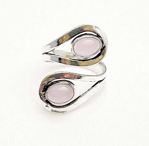 Rose Quartz Loop Ring