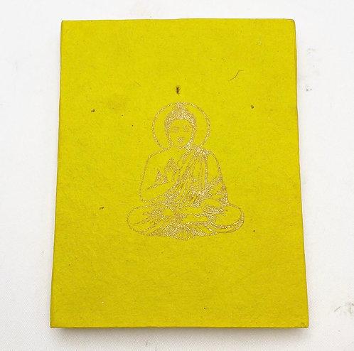 Lime Buddha Symbol Notebook