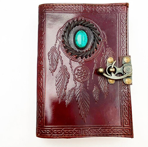 Turquoise Dreamcatcher Leather Journal