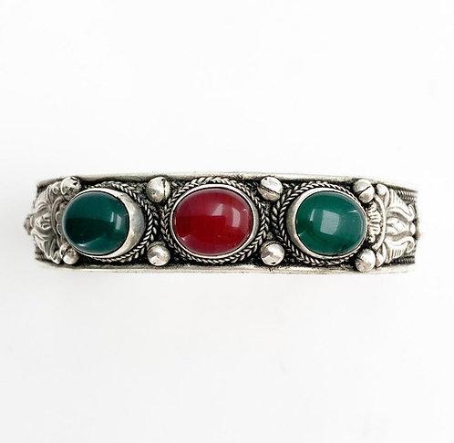 Red Jasper & Green Jasper Tripal Bracelet