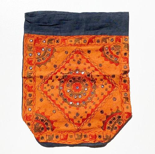 Pumpkin Embroidered Backpack