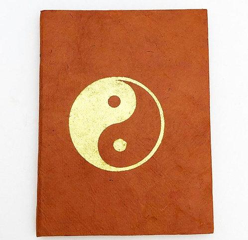 Brown Yin Yang Auspicious Symbol Notebook