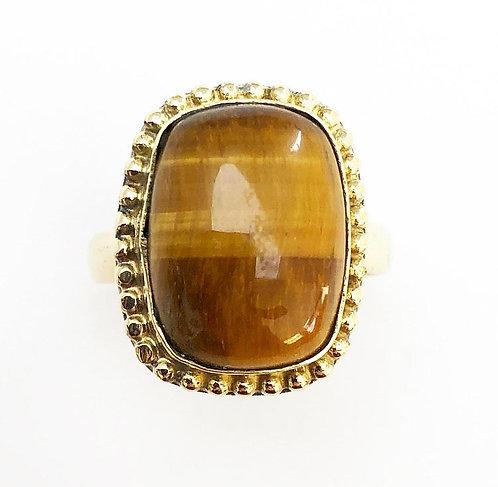 Tigers Eye Stone Ring