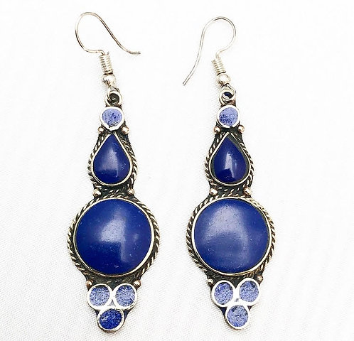 Lapis Lazuli Asru Earrings
