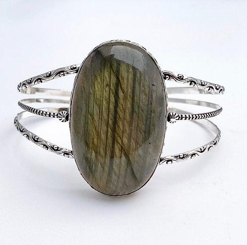 Labradorite Extra Large Stone Cuff