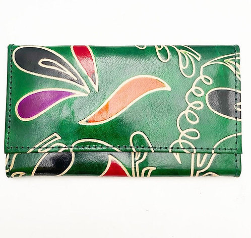 Forest Green Leather Purse