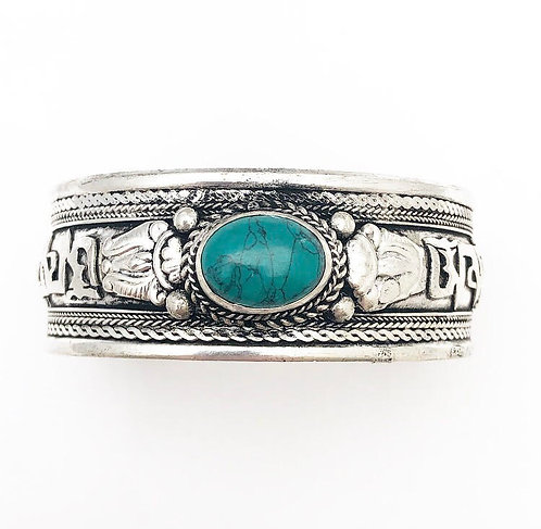 Turquoise Mantra Cuff