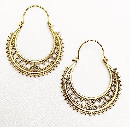 Betul Brass Earrings