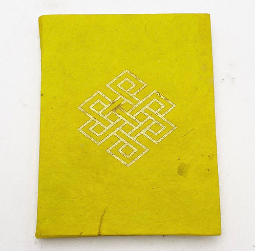 Lime Endless Knot Symbol Notebook