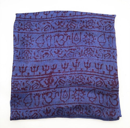 Large Blueberry Mantra Scarf