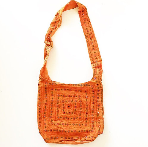 Orange Mirror Slouch Bag
