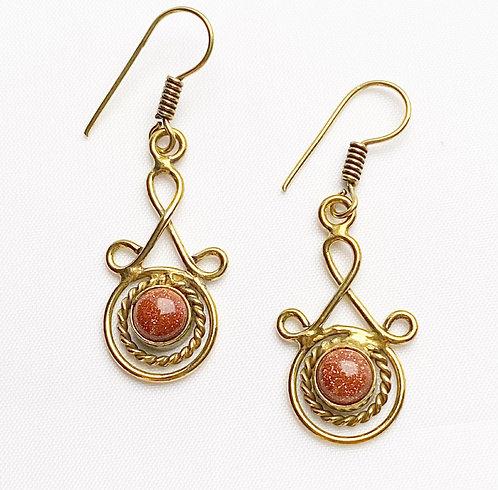 Goldstone Latakana Earrings