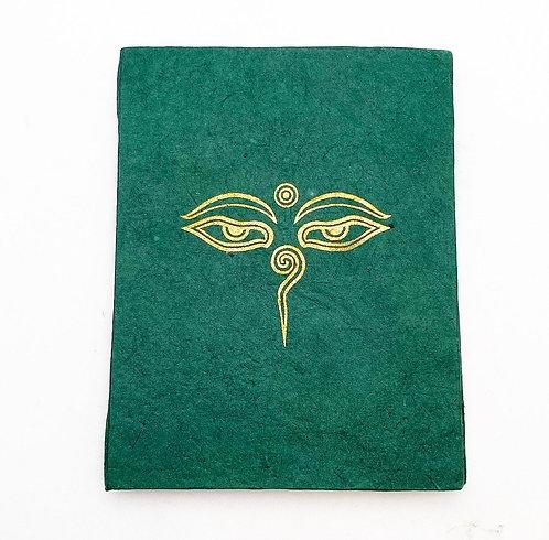 Emerald Buddha's Eyes Symbol Notebook