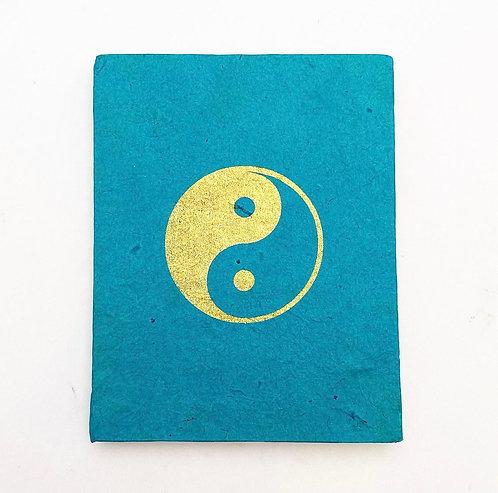 Teal Yin Yang Symbol Notebook