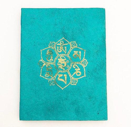 Turquoise Auspicious Symbol Notebook