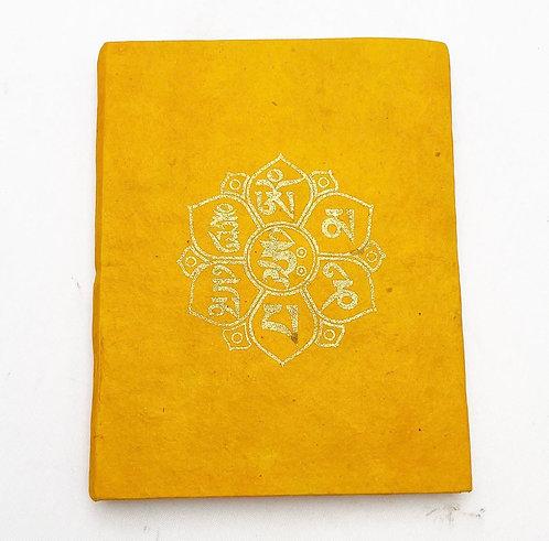 Orange Auspicious Symbol Notebook