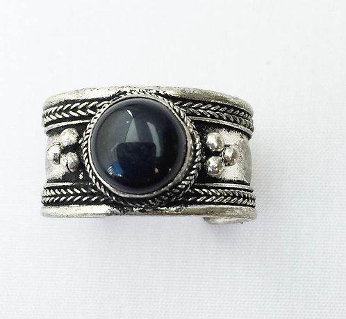 Small Onyx Tibetan Ring