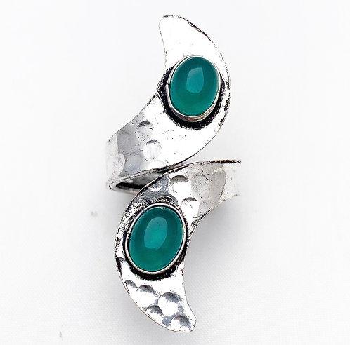 Green Jasper Ankit Ring