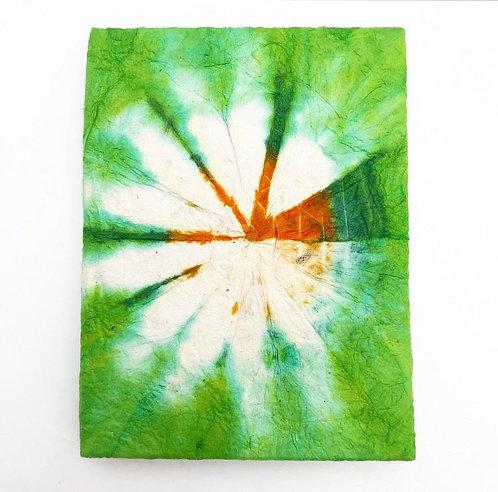 Lime Green Tie Dye Pocket Notebook