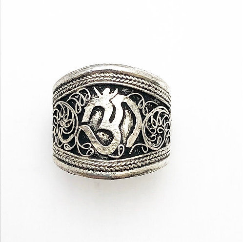 Ohm Filigree Ring