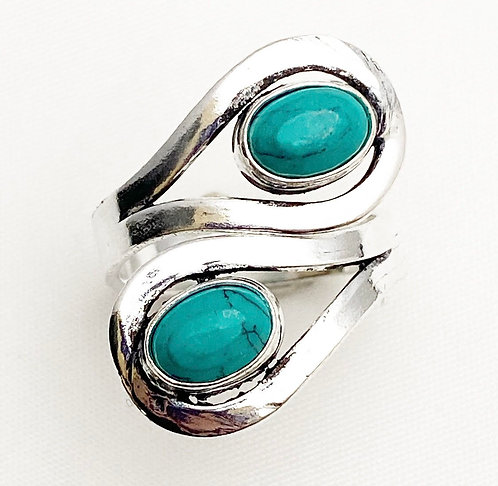 Turquoise Loop Ring