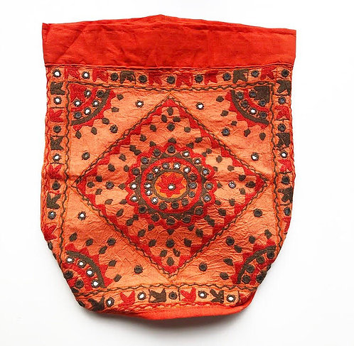 Tangerine Embroidery Backpack