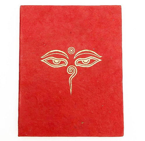 Red Buddhas Eye Auspicious Symbol Notebook