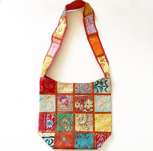 Mysore Sari Slouch Bag