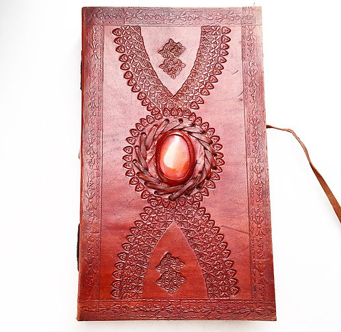 Carnelian Twist Wrap Leather Journal