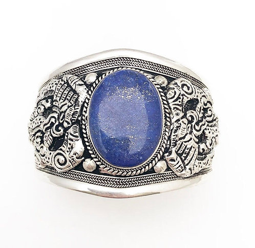 Lapis Lazuli Tibetan Cuff