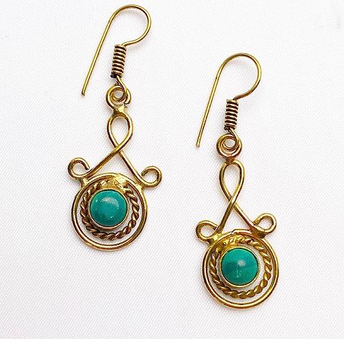 Malachite Latakana Earrings