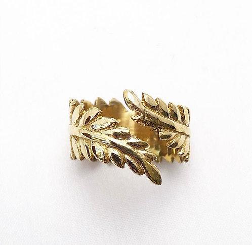 Brass Leaf Ring