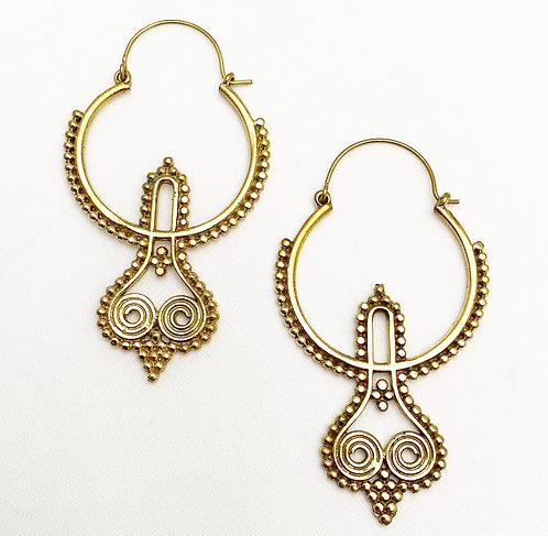 Bardez Brass Earrings