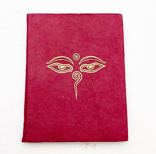 Red Buddha's Eyes Symbol Notebook
