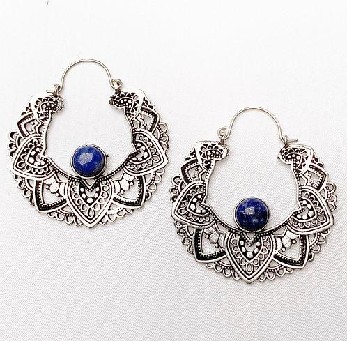 Lapis Lazuli Mandala Earrings