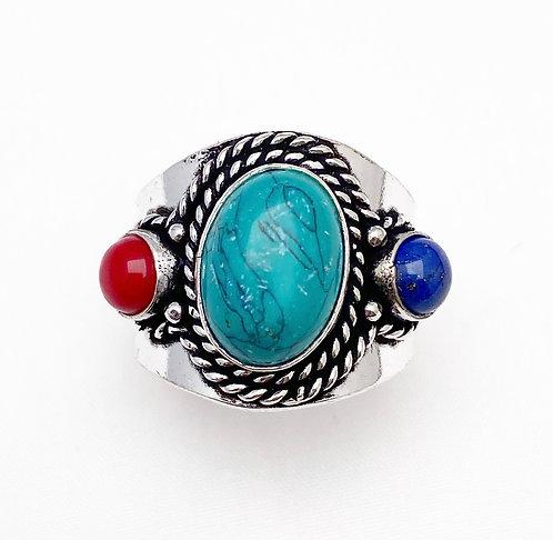 Mix Stone Chattaan Ring