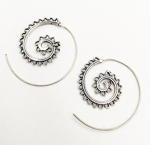 Benaulim Silver Earrings