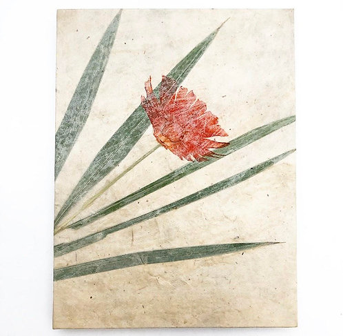 Red Pressed Flower Notebook