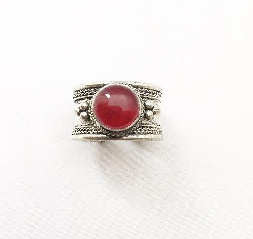 Small Red Jasper Tibetan Ring
