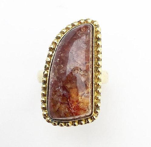 Pink Aventurine Stone Ring