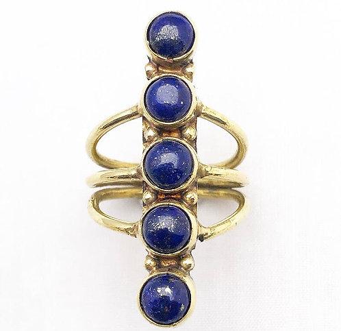 Lapis Lazuli 5 Stone Ring