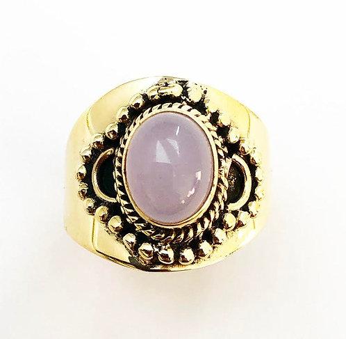 Rose Quartz Sajjita Ring