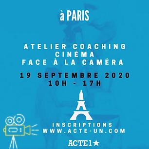 ATELIER CINEMA - 19 SEPTEMBRE 2020