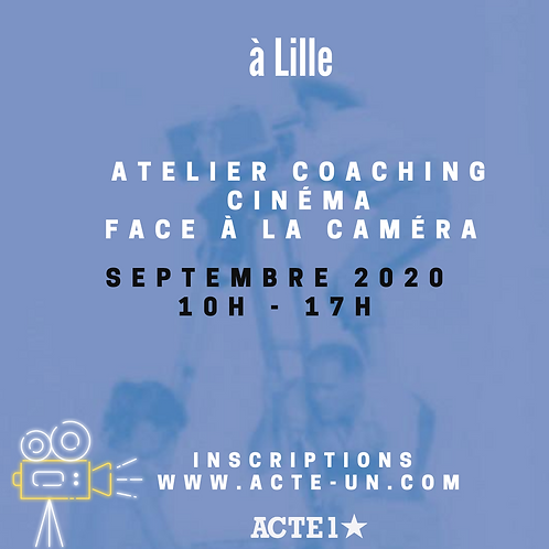 ATELIER CINEMA - 5 SEPTEMBRE 2020