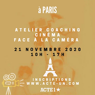 ATELIER CINÉMA - 21 NOVEMBRE 2020